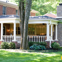 traditional porch by JH Designs