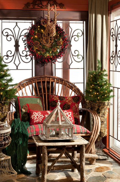 rustic porch by Indeed Decor