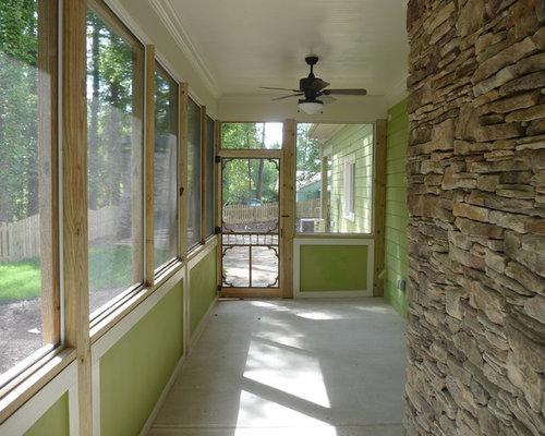diseo de porche cerrado de estilo americano pequeo en anexo de casas y patio with porches - Porches Cerrados
