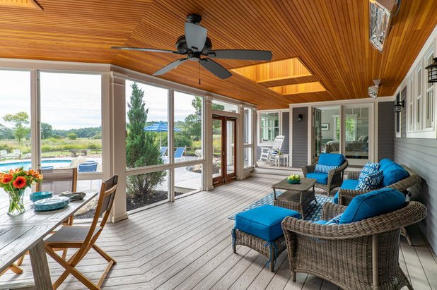 Beach Style Porch by Windhill Builders