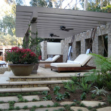 Mediterranean Porch by MTLA- Mark Tessier Landscape Architecture