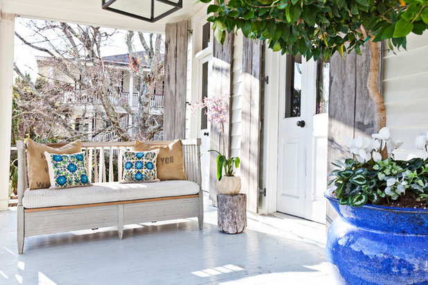 Shabby-chic Style Porch by Cortney Bishop Design