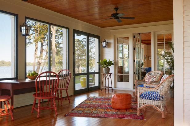 Traditional Porch by David Heide Design Studio