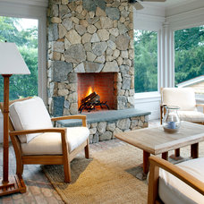 Beach Style Porch by Patrick Ahearn Architect