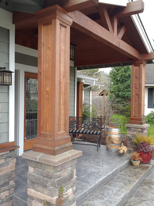 Decorative cedar columns houzz for Exterior decorative columns
