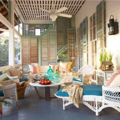 eclectic porch by Jean Allsopp Photography
