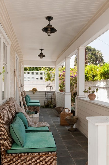 Traditional Porch by Katerina Tana Design