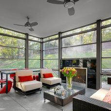 Contemporary Porch by Keller Studio Inc.