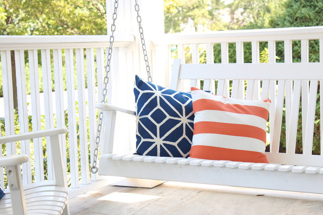Eclectic Porch by The Pillow Studio