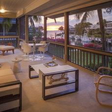Contemporary Porch by Michael Wolk Design Associates