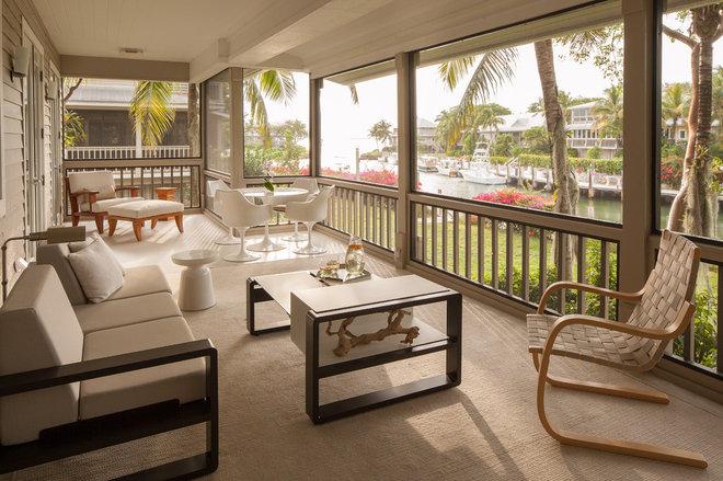 Tropical Porch by Michael Wolk Design Associates