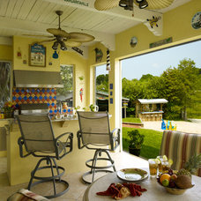 Beach Style Porch by Jonathan McGrath Construction, LLC