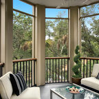 Small Screened Porch Gets A New Life Transitional