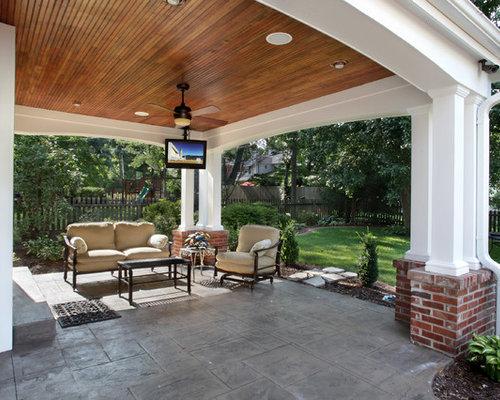 50 Best Stamped Concrete Porch Ideas & Designs   Houzz on Concrete Back Porch Ideas id=56095