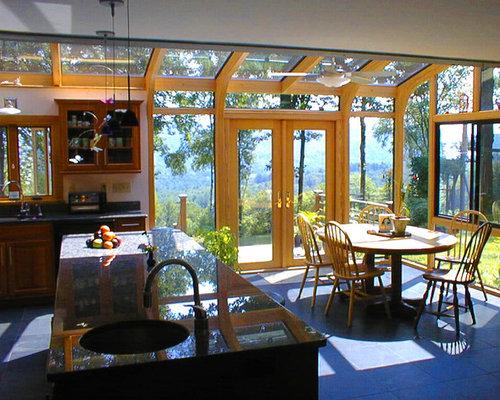 Kitchen Expansion Using A Sunroom Corner Addition