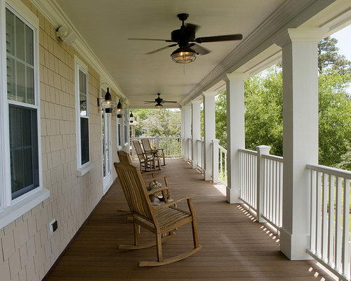 Porch ceiling fans ideas pictures remodel and decor for Traditional porch