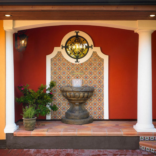 Mexican fountain home design ideas pictures remodel and for Mexican style outdoor fountains