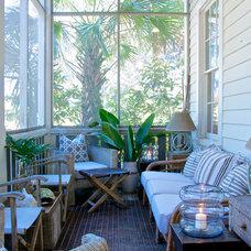 Beach Style Porch by Starr Sanford Design