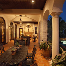 mediterranean porch by Cornerstone Architects