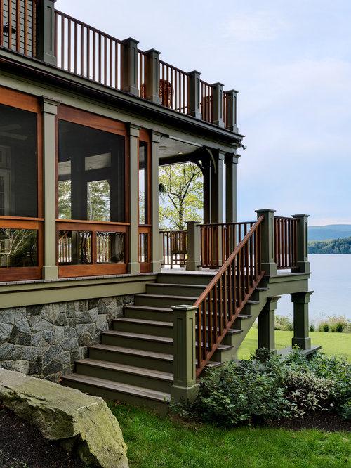 Lake house design ideas houzz for Brammer kitchen cabinets