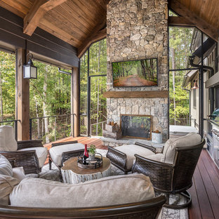 Lake Keowee Custom Home Porch