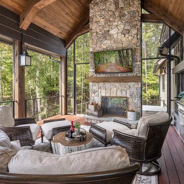 Lake Keowee Custom Home Porch