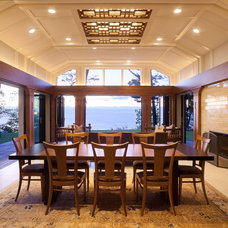 Transitional Porch by roomTEN design