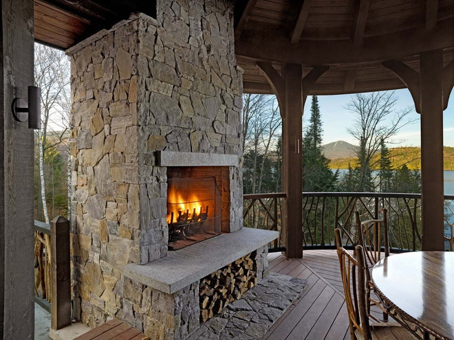 Traditional Porch by Gristmill Builders, LTD