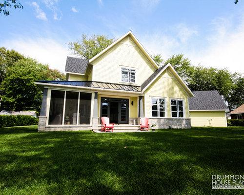 Farmhouse Kansas City Porch Design Ideas Remodels & s
