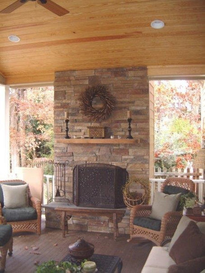 Traditional Porch by Stony Point Construction Co., Inc