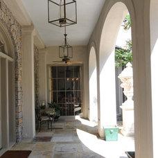 Mediterranean Porch by Al Jones Architect