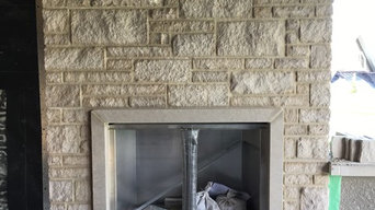 Limestone Fireplace