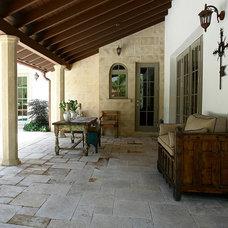 Mediterranean Porch by Nelson de Leon/Locus Architecture Inc.