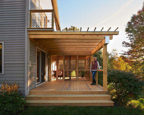 Balcony furniture small - Screened In Porch Design Ideas Remodels Amp Photos With A Pergola