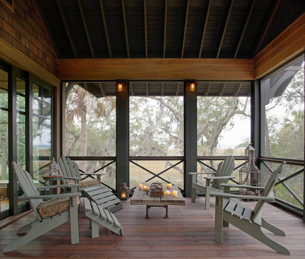 Beach Style Porch by Wayne Windham Architect, P.A.