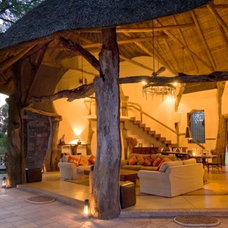 Eclectic Porch Luangwa House
