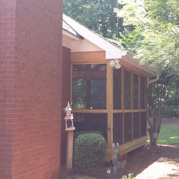 Macon GA Screen Porch Extension From Beautiful Brick Home