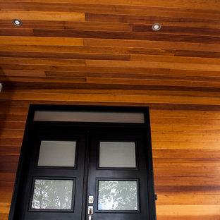 Idee per un grande portico minimal davanti casa