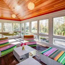 Contemporary Porch by Phi Home Designs
