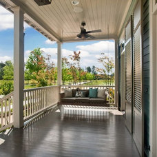 Transitional Porch by Maria Barcelona Interiors, LLC