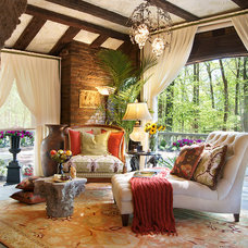 Traditional Porch by KARLA TRINCANELLO-CID - INTERIOR DECISIONS, INC.