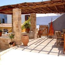 Mediterranean Porch by Maria Ypsilanti  I.D. Interior design