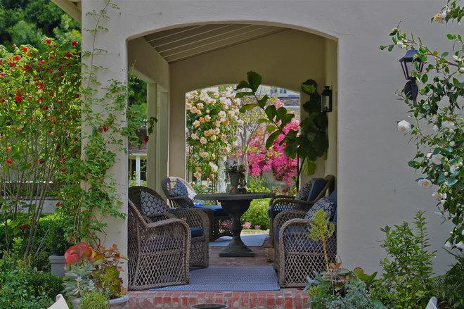 Mediterranean Porch by Garden Pacific