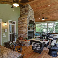 Eclectic Porch by Weidmann Remodeling