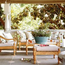 Eclectic Porch by shelley morris interiors