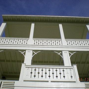 Marino Residence- Front Facade Porches