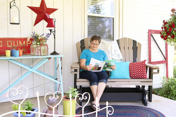 Farmhouse Porch by Julie Ranee Photography