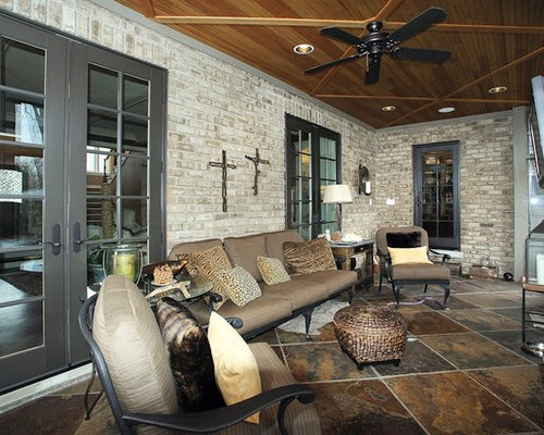 Sunroom floor tile houzz for Sunroom tile floor ideas
