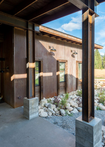 Industrial Porch by Dan Nelson, Designs Northwest Architects