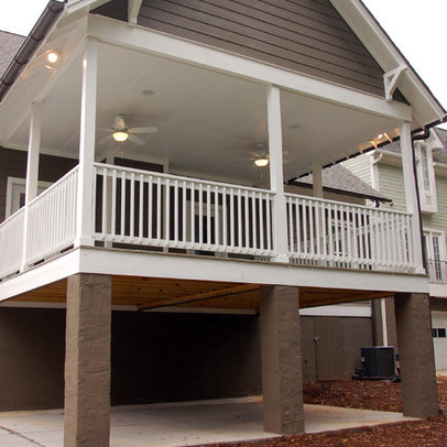 Porch Exposed Rafters Design Ideas, Pictures, Remodel, and Decor